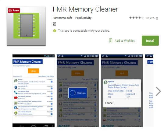 FMR Memory Boost Android Ram