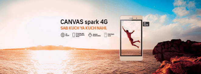 Micromax Canvas Spark 4G Budget Smartphone
