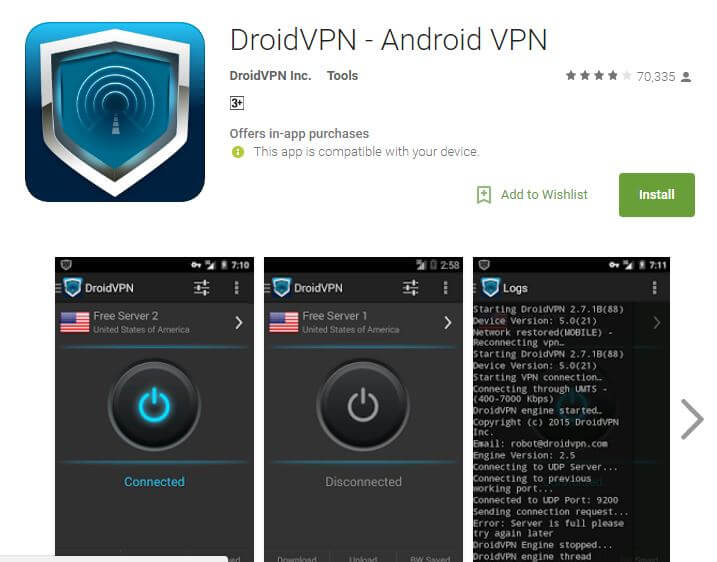 DroidVpn Best Free VPN Apps for Android 2017