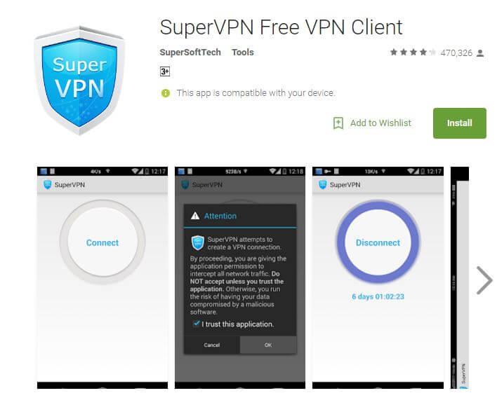 SuperVpn Best Free VPN Apps for Android 2017