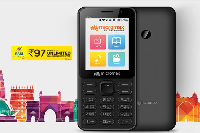 Micromax Bharat-1 Feature Phone With 4g VoLTE Support Launched for Rs.2,200